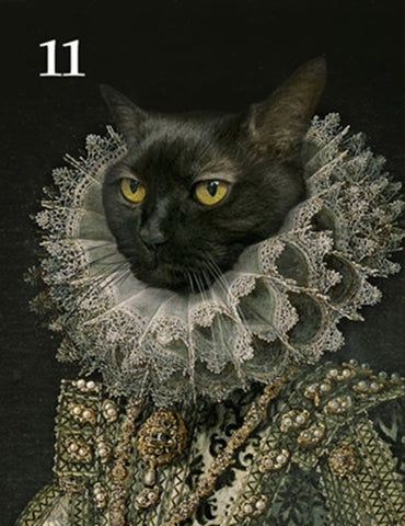 Renaissance historical F-11 female pet portrait