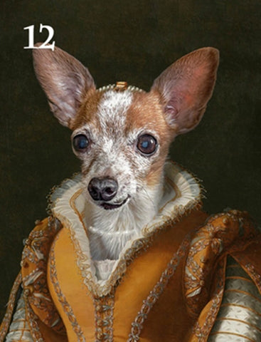 Renaissance historical F-12 female pet portrait