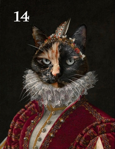Renaissance historical F-14 female pet portrait