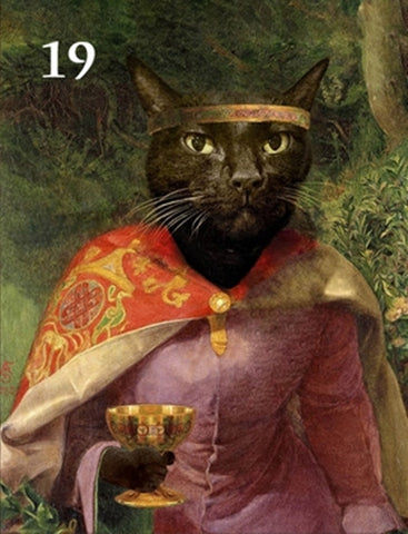 Renaissance historical F-19 female pet portrait