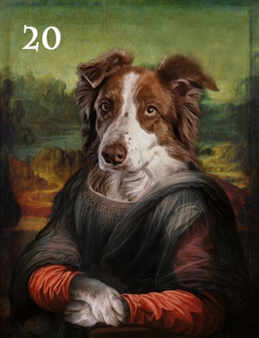 Renaissance historical F-20 female pet portrait