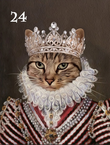 Renaissance historical F-24 female pet portrait