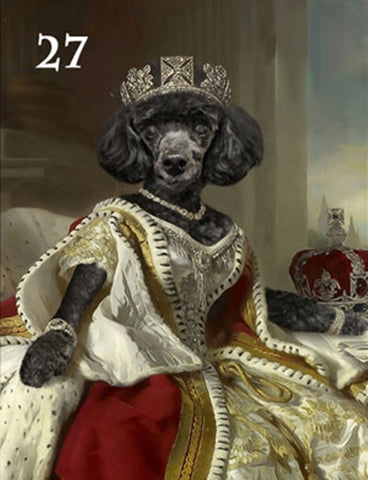 Renaissance historical F-27 female pet portrait