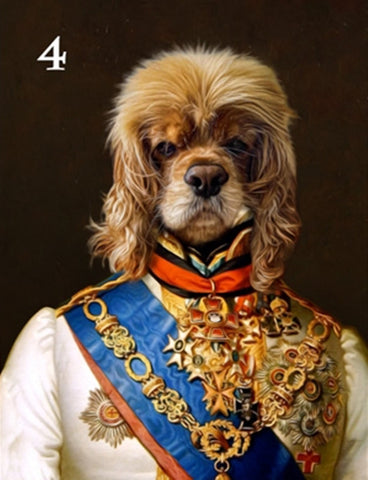 Renaissance historical M-04 male pet portrait