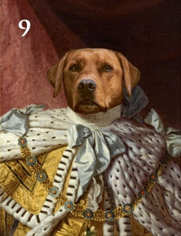 Renaissance historical M-09 male pet portrait