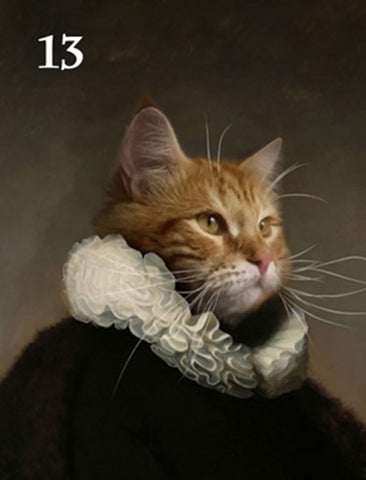 Renaissance historical M-13 male pet portrait
