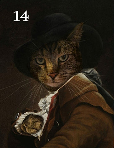 Renaissance historical M-14 male pet portrait