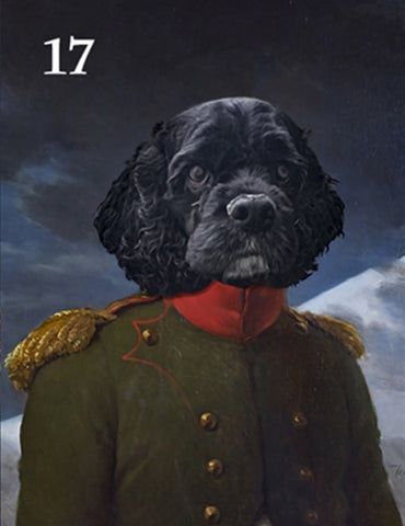 Renaissance historical M-17 male pet portrait