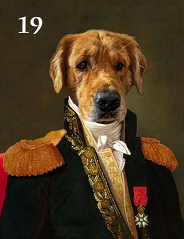 Renaissance historical M-19 male pet portrait