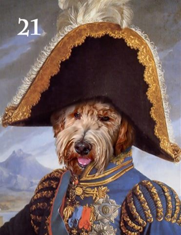 Renaissance historical M-21 male pet portrait