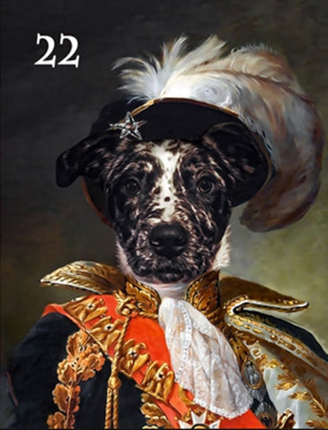 Renaissance historical M-22 male pet portrait
