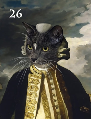 Renaissance historical M-26 male pet portrait