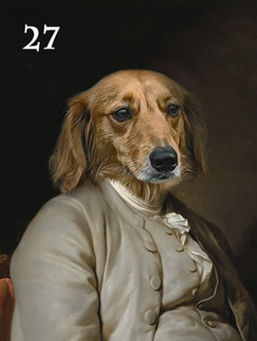 Renaissance historical M-27 male pet portrait