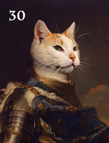 Renaissance historical M-30 male pet portrait