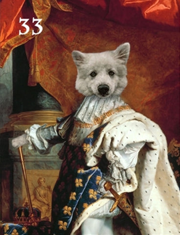 Renaissance historical M-33 male pet portrait
