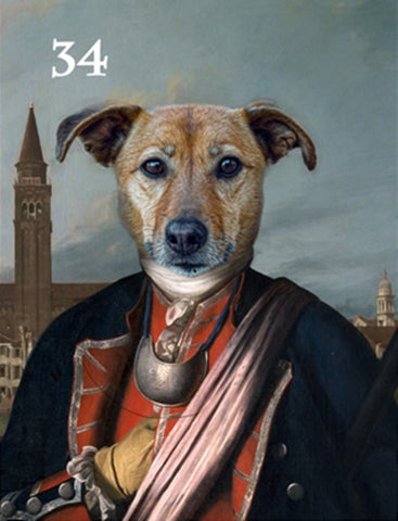 Renaissance historical M-34 male pet portrait