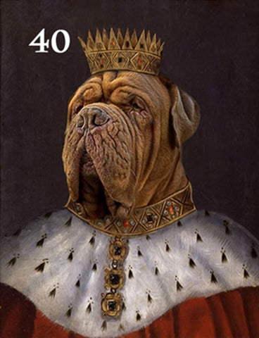 Renaissance historical M-40 male pet portrait