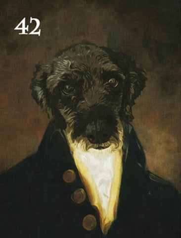 Renaissance historical M-42 male pet portrait