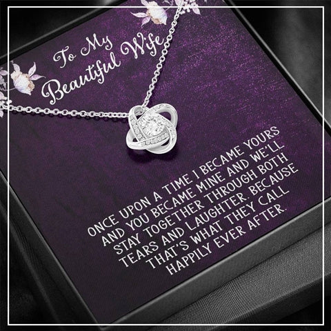 To my Beautiful Wife Knot Necklace