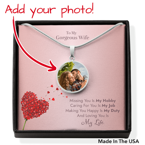 To my gorgeous wife necklace