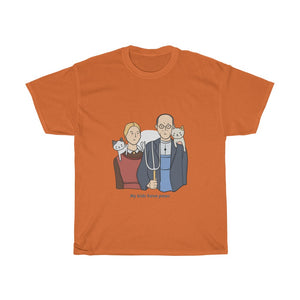 My kids have paws - Unisex Heavy Cotton Tee - AU