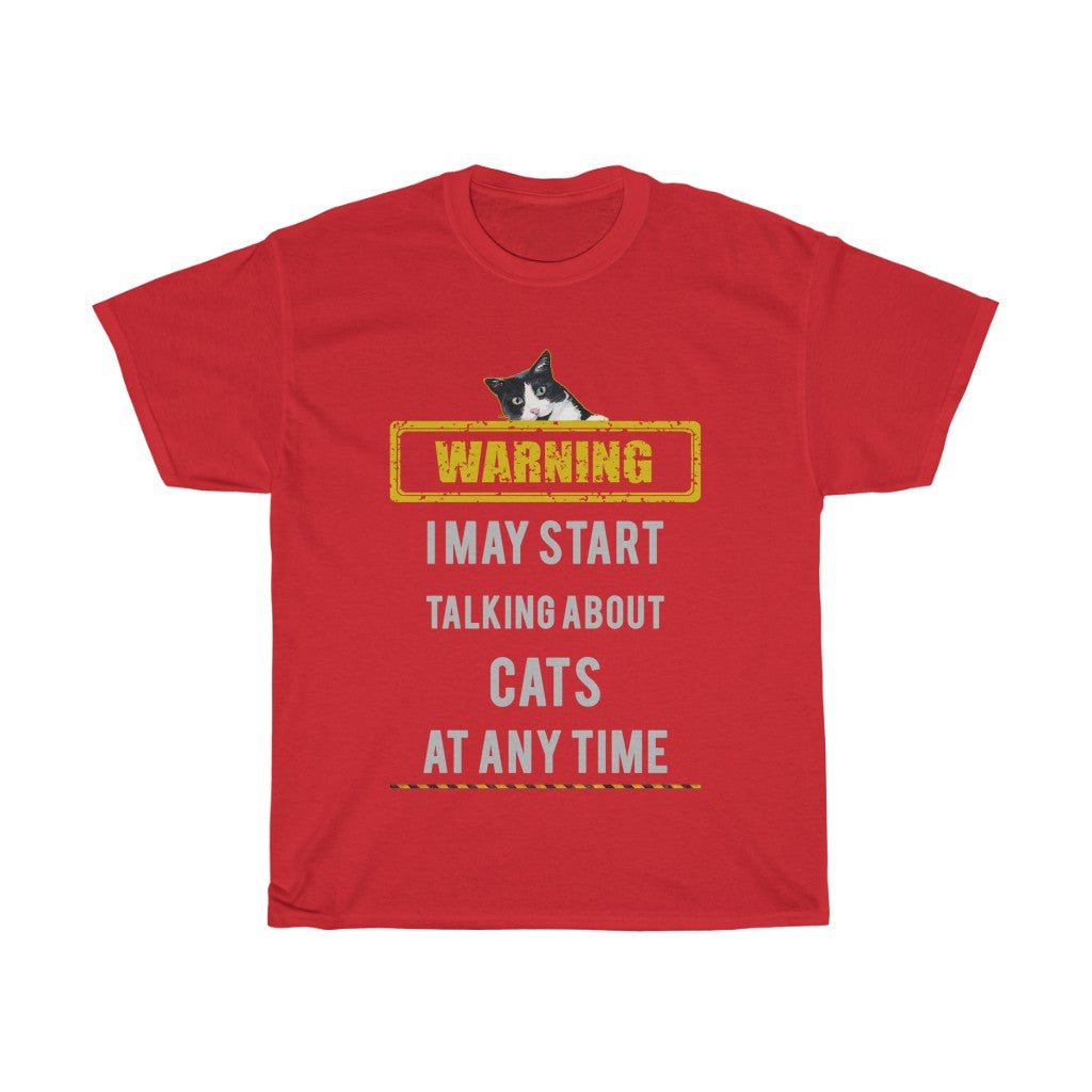 Talking about cats - Unisex Heavy Cotton Tee - Fulfilled in Australia