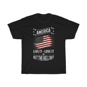 America Live it Love it – Unisex Heavy Cotton Tee - US
