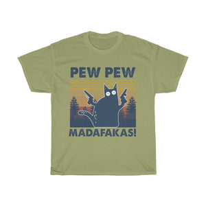 Pew pew - Unisex Heavy Cotton Tee - Fulfilled in Germany