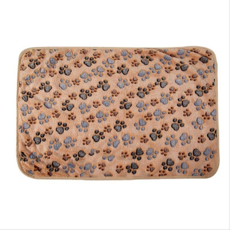 Soft Paw Print Cat / Dog Fleece Blankets