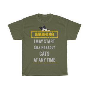 Talking about cats - Unisex Heavy Cotton Tee - Fulfilled in United Kingdom