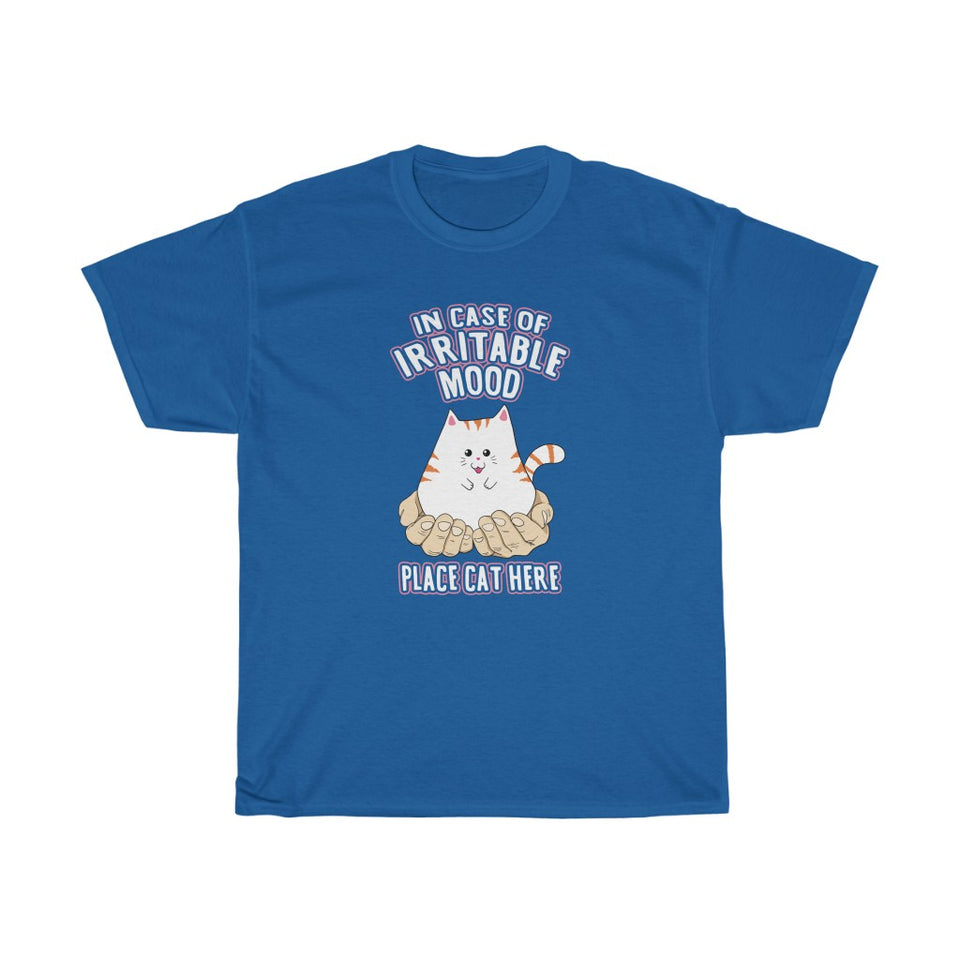 Place Cat Here - Unisex Heavy Cotton Tee - Fulfilled in Canada
