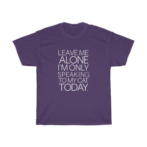 Leave me alone - Unisex Heavy Cotton Tee - Fulfilled in the United States