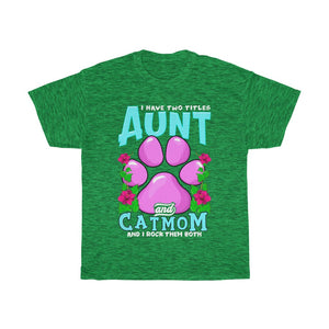 Aunt & Cat mom - Unisex Heavy Cotton Tee - AU