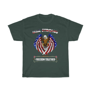 USA strong freedom together – Unisex Heavy Cotton Tee - US