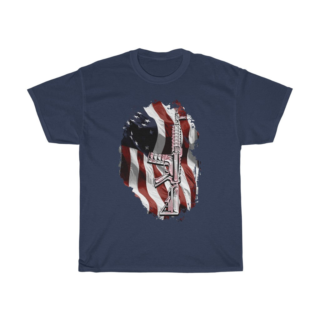 2nd amendment flag - Unisex Heavy Cotton Tee - Fulfilled in the United States