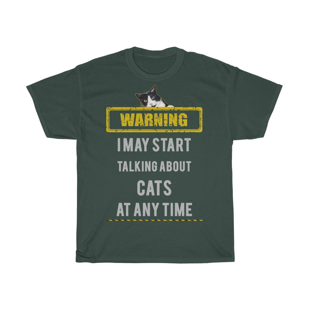 Talking about cats - Unisex Heavy Cotton Tee - Fulfilled in Germany