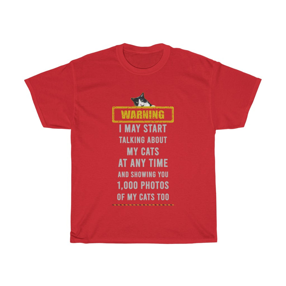 Showing you photos of my cats - Unisex Heavy Cotton Tee - Fulfilled in Australia