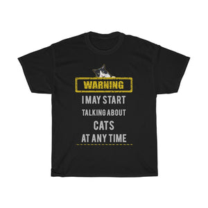 Talking about cats - Unisex Heavy Cotton Tee - Fulfilled in the United States
