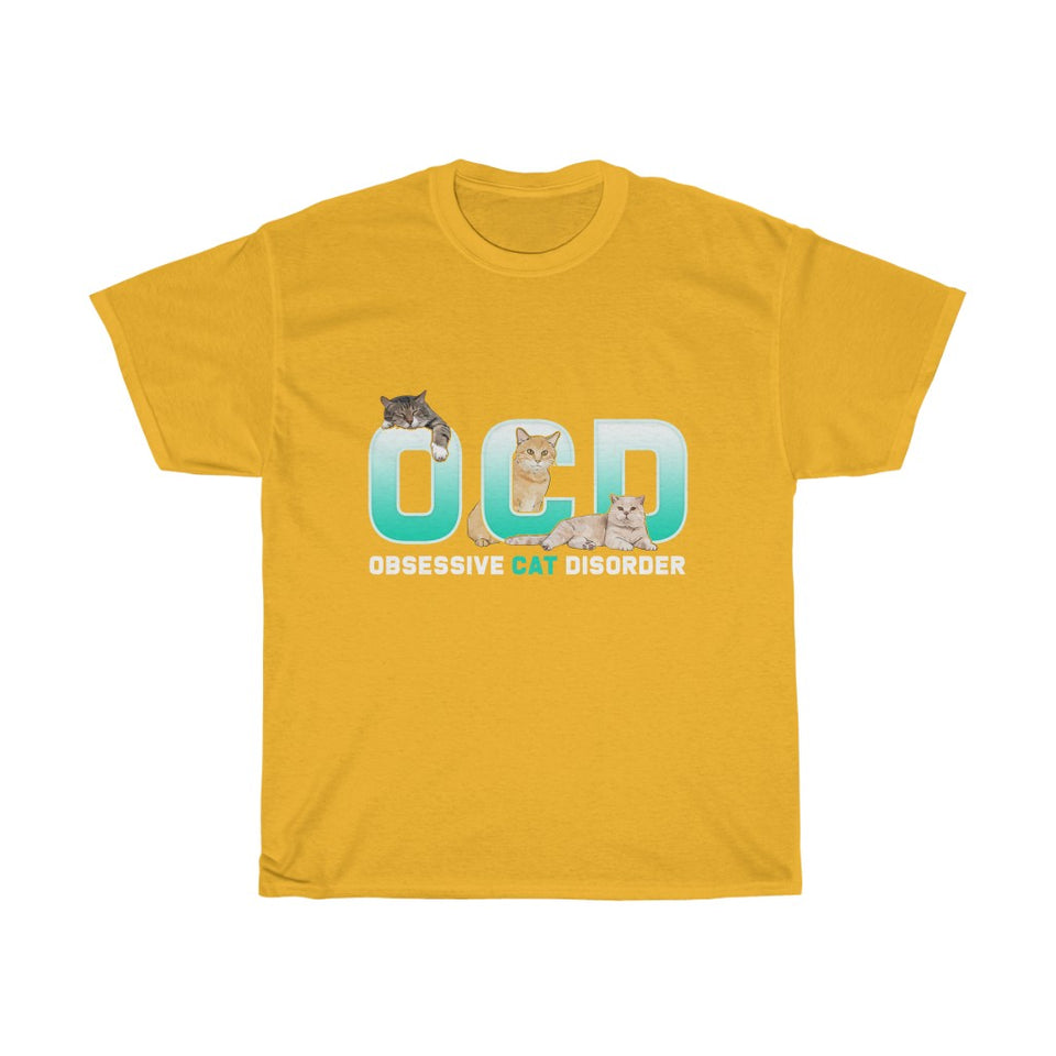 OCD Cat v2 - Unisex Heavy Cotton Tee - Fulfilled in Czech Republic