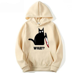 Funny Cat Print Hoodie (Check the size chart carefully before ordering)