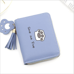 Cat Cute Paw Small Wallet
