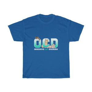 OCD Cat v2 - Unisex Heavy Cotton Tee - Fulfilled in Canada