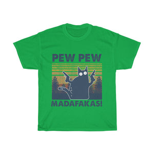 Pew pew - Unisex Heavy Cotton Tee - Fulfilled in Australia