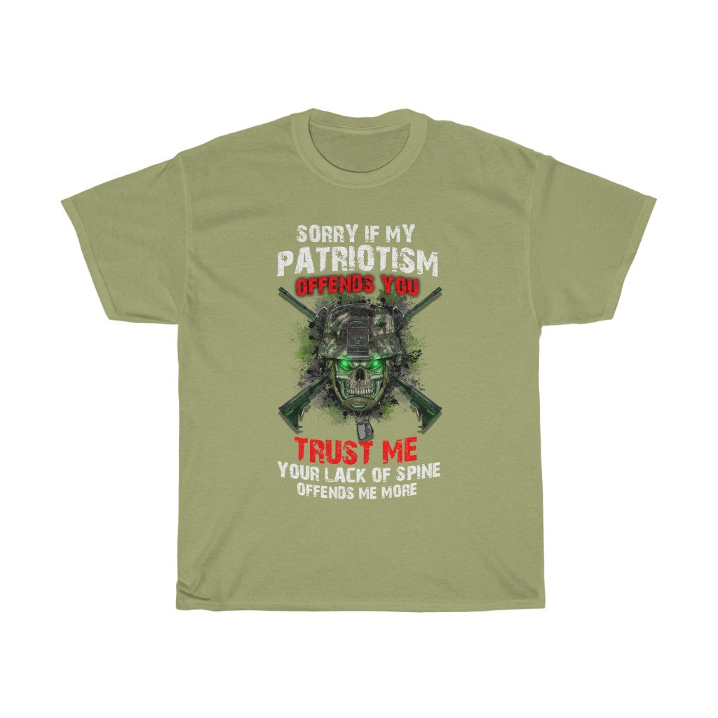 Sorry if my Patriotism offends you – Unisex Heavy Cotton Tee - US