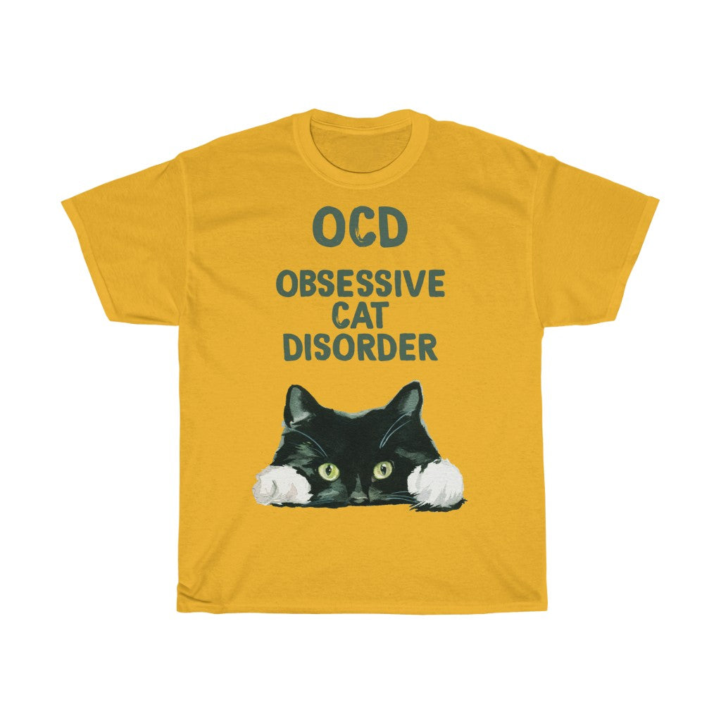 OCD Cat - Unisex Heavy Cotton Tee - Fulfilled in Germany