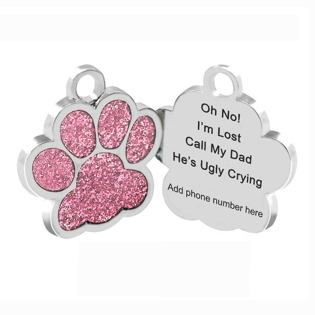 Personalized Pet Tag engraved - I'm Lost - Call my dad