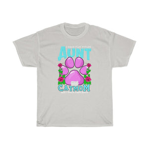 Aunt & Cat mom - Unisex Heavy Cotton Tee - CA