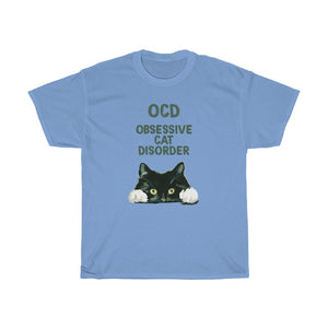 OCD Cat - Unisex Heavy Cotton Tee - CA