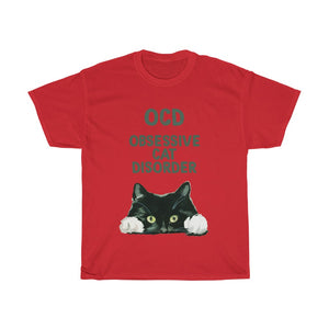 OCD Cat - Unisex Heavy Cotton Tee - AU