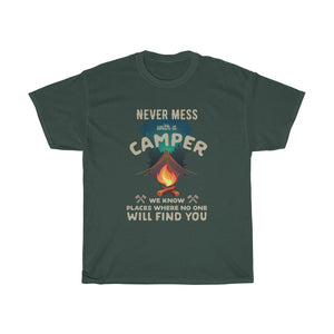 Never mess with a Camper - Unisex Heavy Cotton Tee - Fulfilled in Germany